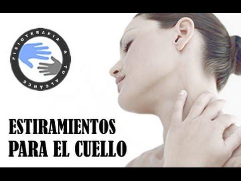 Ejercer la terapia de osteocondrosis de la columna cervical con fotos