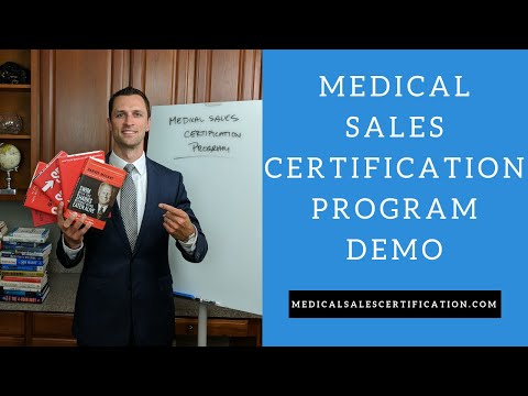 Demo Of The Medical Sales Certification Program - YouTube