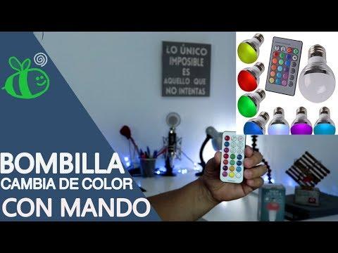 BOMBILLA LED DE COLORES CON MANDO A DISTANCIA  REVIEW FRIKI