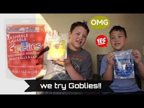 We tried Goblies Throwable Paintballs