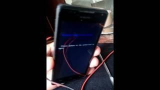 fix Huawei Mediapad stripe screen boot image verify failed please