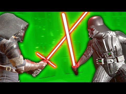 DARTH VADER DUELS KYLO REN IN VIRTUAL REALITY - Blades and Sorcery VR Mods (Star Wars)