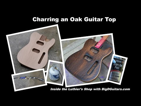 DIY Charred/Burnt Oak Topped Guitar Body -