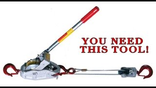 Everyone needs THIS tool! Extremely useful and versatile.