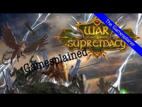 War of Supremacy Gamesplained - Part 1