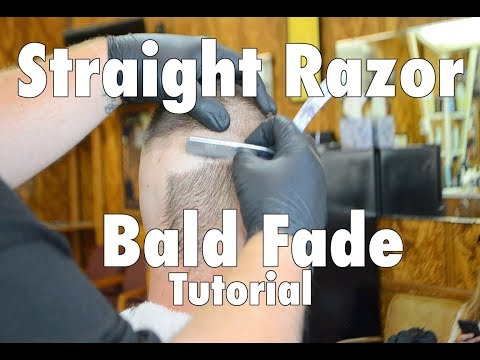 Haircut Tutorial-Straight Razor Bald Fade