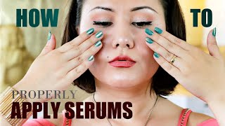 HOW TO *Properly* APPLY SERUMS ON THE FACE | Skincare Specialist On Applying Serums ~Skincare Talks~
