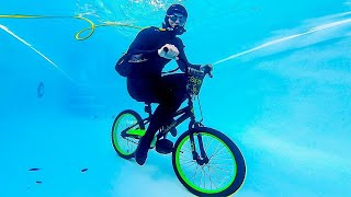 Video CAN YOU RIDE A BICYCLE UNDERWATER? MP3, 3GP, MP4, WEBM, AVI, FLV Agustus 2019