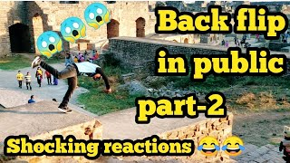 FLIPS IN PUBLIC-2!BACKFLIP CHALLENGE_PRANK IN INDIA! FUNNY REACTIONS!FLIPS IN PUBLIC INDIA PART-2
