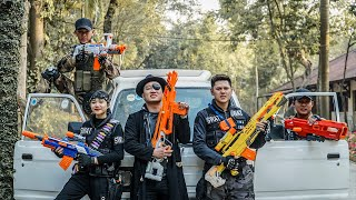 LTT Nerf War : Captain SEAL X Warriors Nerf Guns Fight Criminals Dr.Lee Crazy Dark Hunter