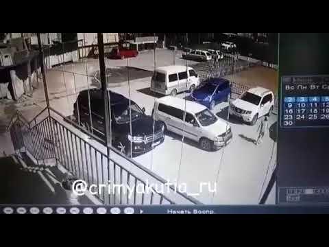 Появилось видео наезда на девочку во дворе дома
