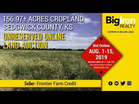 Land Auction 156.97+/- Acres Sedgwick County, Kansas
