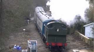 preview picture of video 'Epping-Ongar Railway.Essex.01/04/2013.'