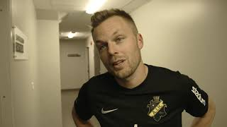 AIK: | 2019-03-10 Daniel Sundgren, Patric Jildefalk Och Sebastian Larsson Efter Matchen Mot Öster