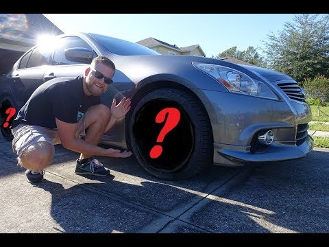 Infiniti G37 FINALLY Gets New Wheels Mounted!