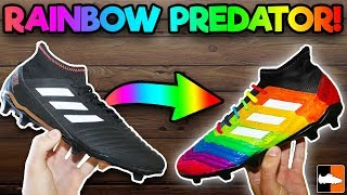How To Make Rainbow Football Boots!