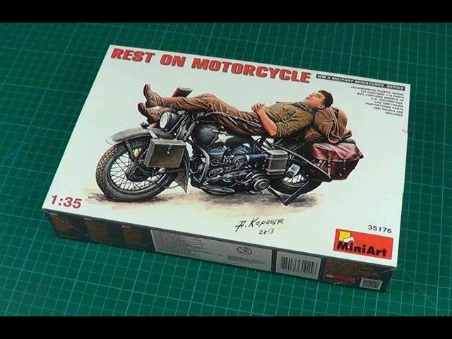 35176 1:35 REST ON MOTORCYCLE MiniArt