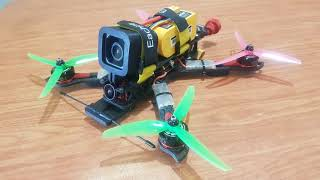 Practice in Acro Trainer mode with 5 inches racing drone