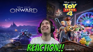 ONWARD & Toy Story 4 REACTION!!