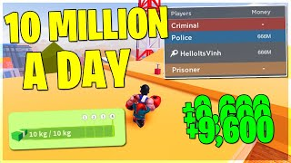*FASTEST* INSANE WAY TO GET MONEY IN ROBLOX JAILBREAK || 10 Million a Day (Roblox)