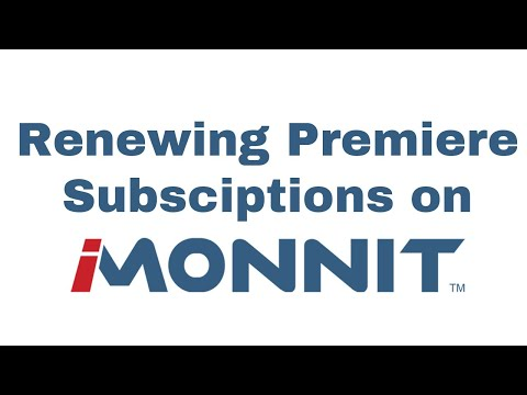 how to Renew an iMonnit Premiere Subscription