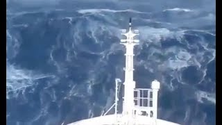 Ships In Storm. Storm in the Ocean. Massive Waves. Big Waves