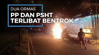 Ormas PP dan PSHT Bentrok di Jalan I Gusti Ngurah Rai, Bekasi, Empat Motor Dibakar