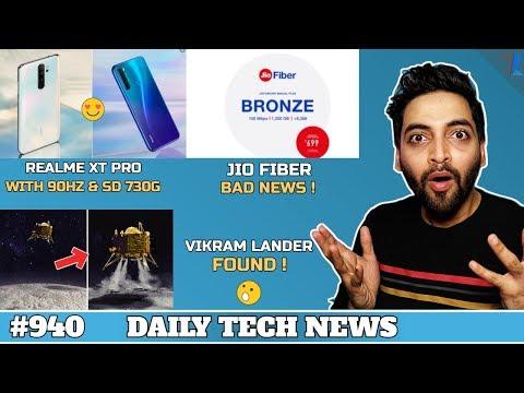 Vikram Lander Found,Realme XT Pro,Jio Fiber Bad News,M30s Full Specs,Mi Band 4 India Launch #940