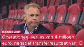 Feyenoord lijdt 17 miljoen verlies over 20/21, financieel directeur Pieter Smorenburg geeft uitleg