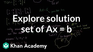 Linear Algebra: Exploring the solution set of Ax=b