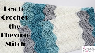 How To Make The Chevron Stitch (Crochet 101 Series)