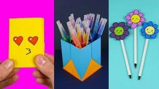 6 DIY School Supplies | Paper crafts for school