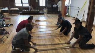 Playing with tinikling