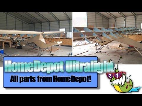 Home Depot ultralight aircraft, Jack Harper and his HomeDepot plans built ultralight aircraft kit!