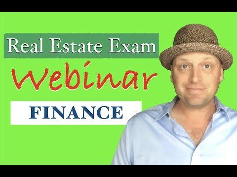Financing: Real Estate Exam Questions & Explanations Webinar ...