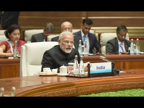 PM Modi delivering his statement, at Plenary Session of 9th BRICS Summit, in Xiamen, China