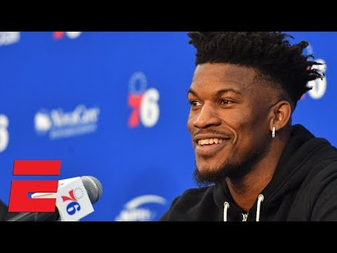 df62d51b1 76ers wanting to win makes me smile - Jimmy Butler at introductory news  conference