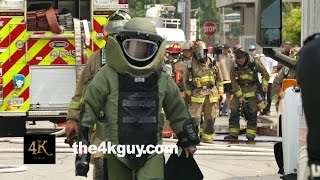 Toronto: Cop wearing bomb suit at high risk bomb call 9-2-2015