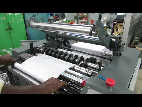 Semi Automatic Thermal Paper Roll Slitting Machine