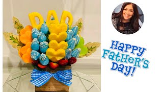 DIY HOW TO MAKE EDIBLE ARRANGEMENT FOR FATHER'S DAY (English)