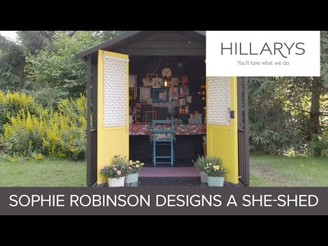 See Sophie Robinson design her own crafting She-Shed YouTube video thumbnail
