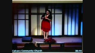 Jordin Sparks sings at her church on christmas