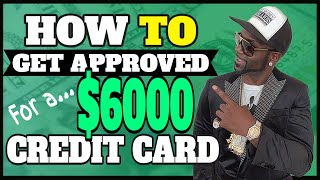 How To Get Approved For a $6,000 Credit Card Even With Bad Credit   Shopping Cart Trick