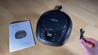 Tragbarer CD-Player Boombox Bluetooth für Kinder mit Radio FM Port für USB... unboxing und Anleitung