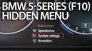 How to enter hidden menu in BMW F10 F11 F07 (5-series service test mode instrument cluster)