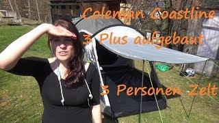 Jasmin baut ein Coleman Coastline 3 Plus Zelt auf