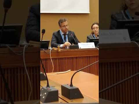 Carlos Moreira at the United Nations Human Rights Meeting - part 1