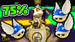 75% Of Items Are BLUE SHELLS W/ Quacker Gameplay - Mario Kart Wii