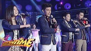 PBB 737 Teen Big Four Ylona, Bailey, Jimboy and Franco perform on It's Showtime