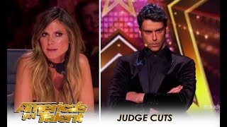 Lioz Shem Tov: Expert MENTALIST Tries To Break a SMILE Out Of Heidi Klum | America's Got Talent 2018